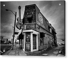 Acrylic Print featuring the photograph Memphis - Sun Studio 004 Bw by Lance Vaughn