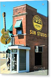 Memphis Sun Studio Birthplace Of Rock And Roll 20160215 Acrylic Print by Wingsdomain Art and Photography