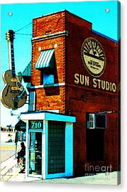 Memphis Sun Studio Birthplace Of Rock And Roll 20160215sketch Acrylic Print by Wingsdomain Art and Photography