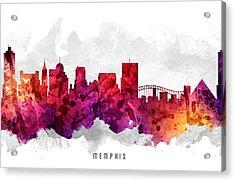 Memphis Tennessee Cityscape 14 Acrylic Print