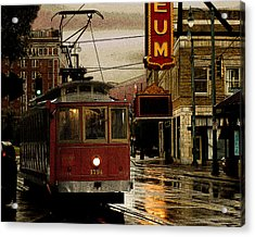 Memphis Tennissee Streetcar Acrylic Print