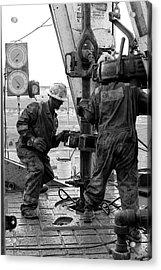 Men At Work Acrylic Print by Jason Drake
