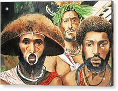 Men From New Guinea Acrylic Print by Judy Swerlick