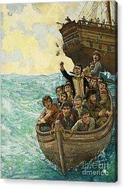 Men In A Boat Acrylic Print