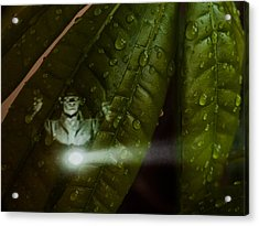 Men In Green Acrylic Print
