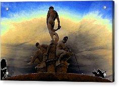 Men Of Greece Acrylic Print by David Lee Thompson