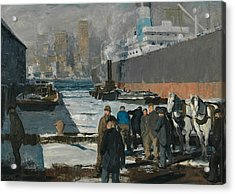 Men Of The Docks Acrylic Print by George Bellows