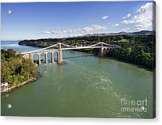 Menai Bridge 1 Acrylic Print by Steev Stamford