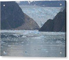 Mendenhall Glacier  Alaska Acrylic Print by Barb Morton