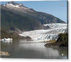 Mendenhall Glacier Alaska Acrylic Print by Janet  Hall