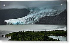Acrylic Print featuring the photograph Mendenhall Glacier by Ed Clark