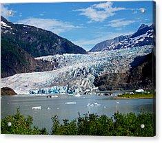 Mendenhall Glacier Acrylic Print by Judy Wanamaker