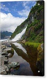 Mendenhall Waterfall Acrylic Print