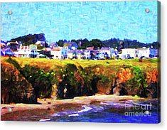 Mendocino Bluffs Acrylic Print by Wingsdomain Art and Photography