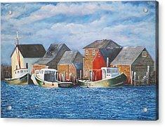 Menemsha Harbor Acrylic Print by Michael McGrath