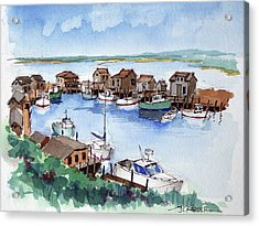 Menemsha Safe Haven Acrylic Print by John Crowther
