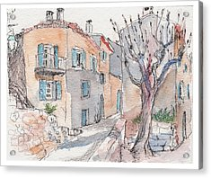 Menerbes Acrylic Print by Tilly Strauss