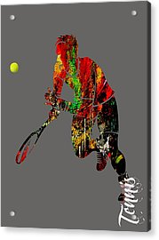 Mens Tennis Collection Acrylic Print