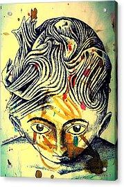 Mental Agitation Acrylic Print by Paulo Zerbato