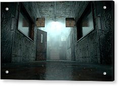 Mental Asylum Haunted Acrylic Print by Allan Swart