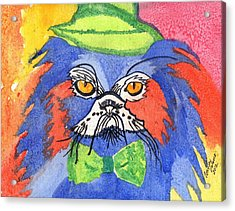 Meow Acrylic Print by Connie Valasco
