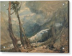 Mer De Glace In The Valley Of Chamouni Switzerland Acrylic Print