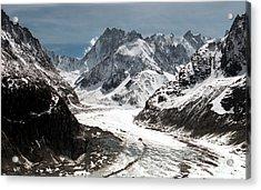 Mer De Glace - Mont Blanc Glacier Acrylic Print by Frank Tschakert