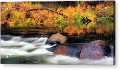 Merced River Autumn Acrylic Print by Floyd Hopper