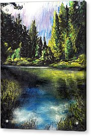 Merced River Bank Acrylic Print