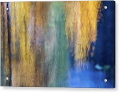 Merced River Reflections 17 Acrylic Print by Larry Marshall