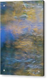 Merced River Reflections 18 Acrylic Print by Larry Marshall