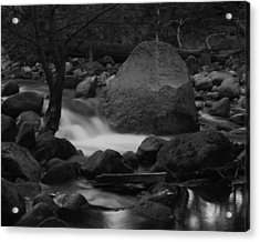 Merced River Rocks Acrylic Print