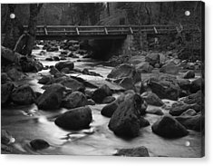 Merced River Wood Bridge Acrylic Print