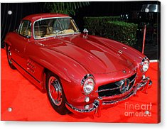 Mercedes 300sl . Red . 7d9172 Acrylic Print by Wingsdomain Art and Photography