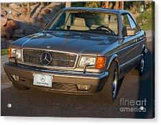 Mercedes 560sec W126 Acrylic Print