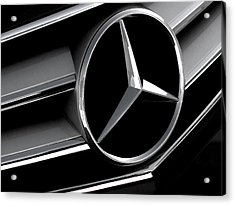 Mercedes Badge Acrylic Print by Douglas Pittman