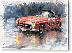 Mercedes Benz 300sl Acrylic Print by Yuriy  Shevchuk