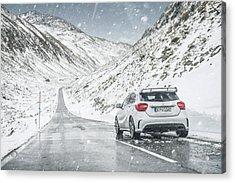 Mercedes Benz A45 Amg Snow Acrylic Print