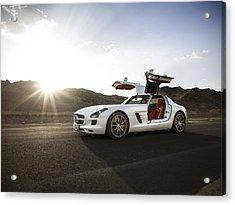 Mercedes Benz Sls Amg In Saudi Arabia Acrylic Print
