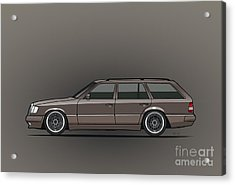 Mercedes Benz W124 E-class 300te Wagon - Anthracite Grey Acrylic Print by Monkey Crisis On Mars
