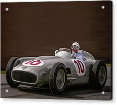 Mercedes-benz W196 Number 10 Acrylic Print by Wally Hampton