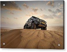 Mercedes G63 6x6 In Oman Desert Acrylic Print
