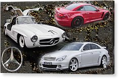 Mercedes Tribute Acrylic Print by Michael Burleigh