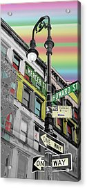 Mercer St Acrylic Print by Christopher Woods