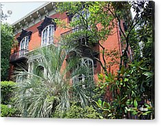 Mercer Williams House-savannah Ga Acrylic Print by Suzanne Gaff