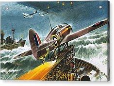 Merchant Navy Fighter Acrylic Print by Wilf Hardy
