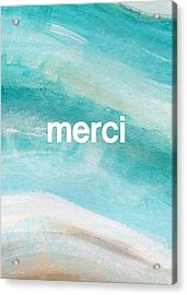 Merci- Art By Linda Woods Acrylic Print