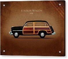 Mercury Station Wagon 1950 Acrylic Print by Mark Rogan