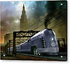 Mercury Train Acrylic Print by Steven Agius