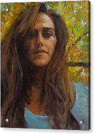 Meredith In Autumn Acrylic Print by Brian Kardell